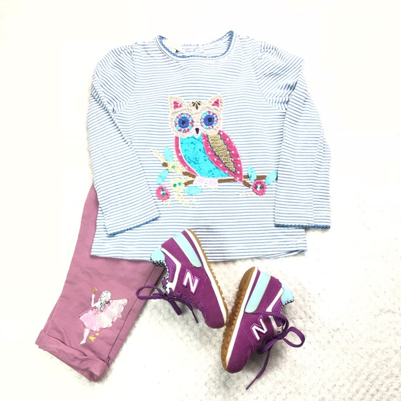 Monsoon Other - 2 piece Monsoon set Owl striped top w/ leggings